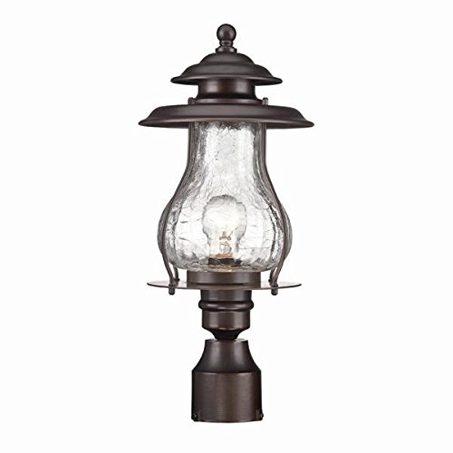 (Acclaim 8207ABZ Blue Ridge Collection 1-Light Post Mount Outdoor Light Fixture, Architectural Bronze)