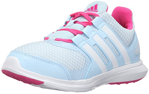 adidas Performance Girls' Hyperfast 2.0 k Running Shoe, Ice Blue/White/Shock Pink, 13 M US Little Kid by adidas