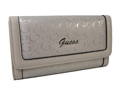 New Guess G Logo Embossed Tri-Fold Wallet Purse Hand Bag Rose Dust Nikolai ()