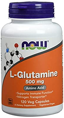 L-glutamine 500mg, 120 Capsules, from NOW Foods