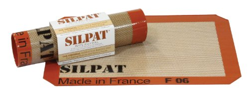 "Silpat 8-1/4"" x 11-3/4"" Non-Stick Silicone Baking Mat"