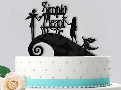 jack and sally wedding cake topper and sally simply meant to be with zero 16559