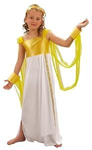 Niña con disfraz de niño lujo Afrodita griega. Tamaño: 7-9 años