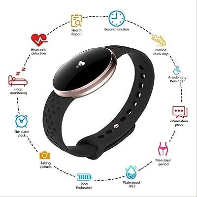 BOZLUN Reloj Inteligente Mujer,Fitness Reloj Reloj de Pulsera Mujer Hombre Smartwatch con RUNOR1 Heart Rate Monitor Sleep Monitor