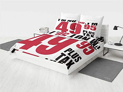 50th Birthday Decorations 3D Queen Bedding Set Hilarious