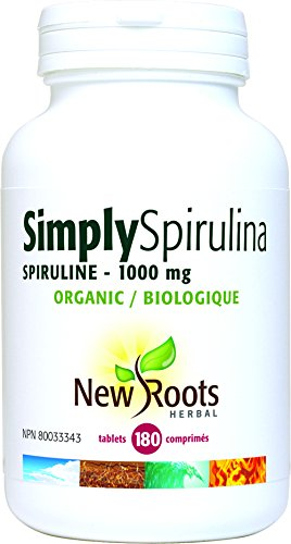 New Roots Simply SPIRULINA 1000 mg, 180 Tablets
