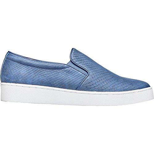 Vionic Womens Midi Snake Slip On, Blue Snake, Size 7.5