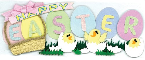 Jolee's Boutique 50-60214 Sticker 3D Easter Title, Multicolor