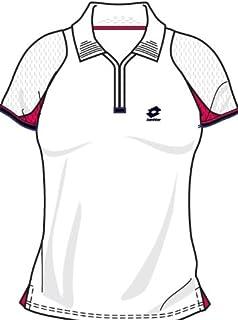 Lotto Poloshirt WTA Tour Gold, Damen, white/geranium