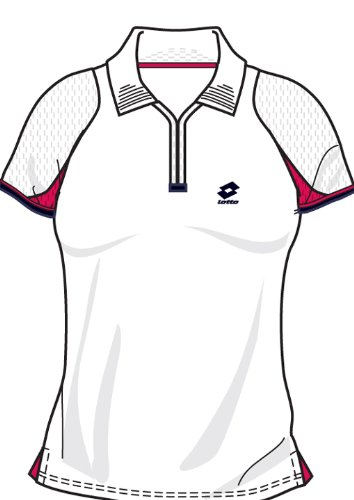Lotto Poloshirt WTA Tour Gold, Damen, white/geranium G7961