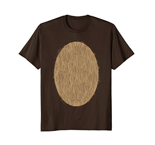 Mens Deer Belly Tshirt Halloween Costume Rudolph DIY Shirt Small Brown