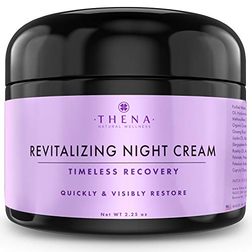 (Night Cream Anti Aging Wrinkle Cream With Hyaluronic Acid Argan Oil, Organic Natural Face Moisturizer & Under Eye Cream For Dark Circles, Rapid Repair Facial Lotion For Dry Sensitive Skin, Women & Men )