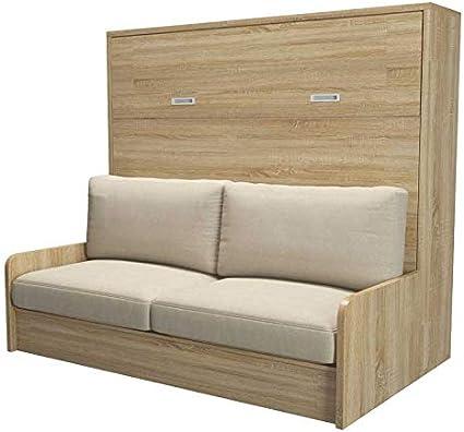 Tousmesmobili Lolly - Armario Cama abatible + sofá - 220 x 45 ...