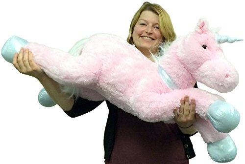 Large Stuffed Unicorn 37 Inches Wide Superior Quality Soft Big Plush