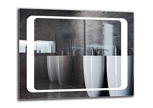 Espejo LED Premium - Dimensiones del Espejo 50x40 cm - Espejo de bano con iluminacion LED - Espejo de Pared - Espejo de luz - Espejo con iluminacion - ARTTOR M1ZP-49-50x40 - Blanco frio 6500K