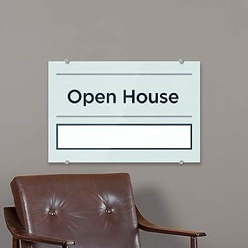 Basic Teal Premium Acrylic Sign 18x12 Open House CGSignLab 5-Pack