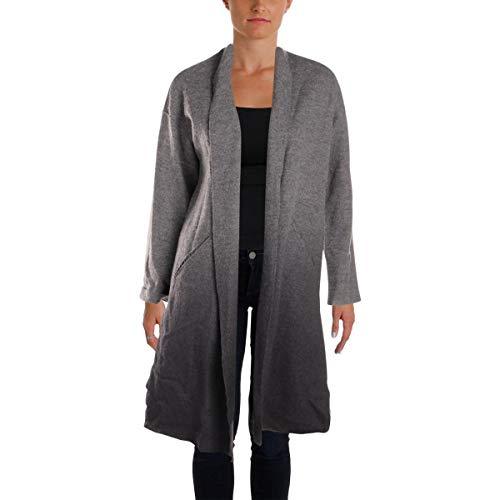 Eileen Fisher Womens Petites Fall Kimono Wrap Coat Gray PP/PS - Eileen Fisher Long Wool Jacket