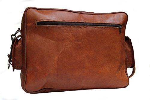Borse in pelle da 16 pollici in pelle di cuoio genuino Messenger College Macbook Air Pro Laptop Ipad Borsa da tasca portabiglietti da tasca