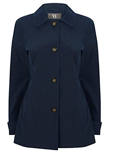 ex BHS Womens Single Breasted Lightweight Raincoat Navy