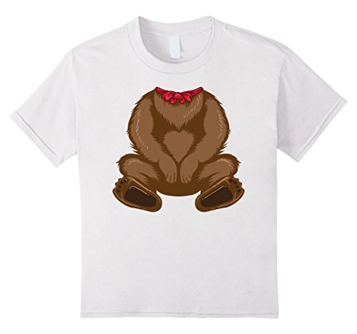 Kids Funny Bear Costume Shirt - Hilarious Halloween Teddy Gift 4 White
