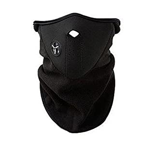 Little Sporter Esquí Máscara Cuello Calentador Facial máscara Ciclismo Moto Bike Casco de esquí Wind Velo Snowboard Unisex al Polvo Prueba de Viento Negro 10