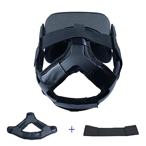 PU Leather Cushion Headband Elastic Head Strap Reduce Head Pressure for Oculus Quest VR Headset