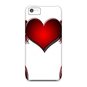 Iphone Cover Case - Red Heart Wings Protective Case Compatibel With Iphone 5c