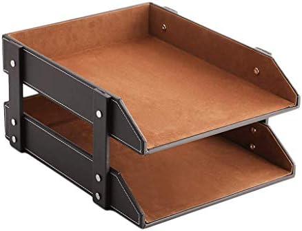 WDX Aktenhalter, Leder, Bürobedarf, mehrschichtig, kreativer Schreibtischständer B