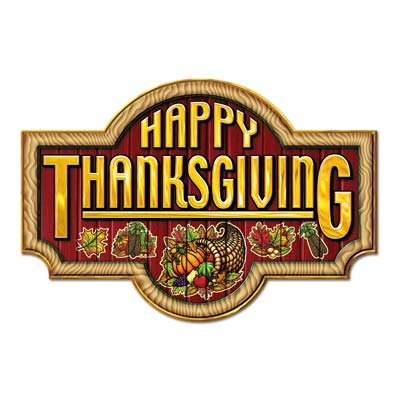 Happy Thanksgiving Sign 2 - 18 inch by (Happy Thanksgiving Sign)