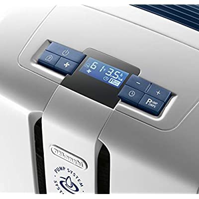 .com - De'Longhi 45 Pint Dehumidifier 24-Hour On/Off Timer, Energy Star 2.0, DDX45E, White -