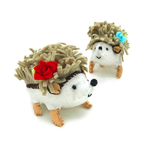 Heidi Boyd | Happy Hedgehogs | Soft Spikes and Squishy Bellies Make This Hedgehog Pair Irresistible. | Make Some Hedgehog Fun with This All Inclusive Felt Craft Sewing Kit Age 13+