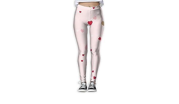 6be109deab Fri Valentine's Day Love Print Compression Pants/Yoga Pants Baselayer Pants  Women Teen High Rise at Amazon Women's Clothing store: