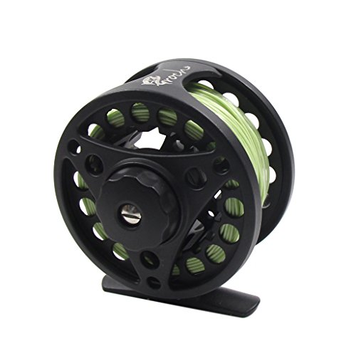 Croch Fly Fishing Reel with CNC-machined Aluminum Alloy Body 7/8 Gold
