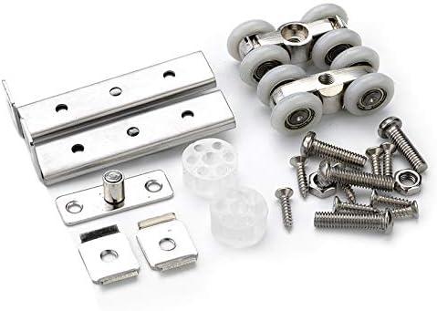 REFURBISHHOUSE - Juego de 2 rodamientos de acero inoxidable para puerta corredera, 30 kg, para el hogar, armario, puerta de madera, ruedas para muebles, rueda de hardware: Amazon.es: Bricolaje y herramientas