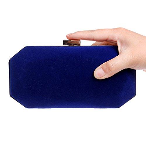 des en daim de Blue en femmes d'embrayage soir du Pochette sacs cuir cuir TEqnCxXPZ