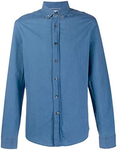 BRUNELLO CUCINELLI Fashion Man ML6943008C003 Blue Cotton Shirt | Spring Summer 20