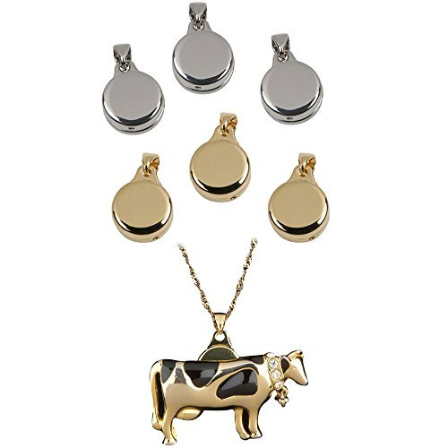 6pk Pin to Pendant Converters Pins Brooches to Necklace Chain Slide Gold Silver