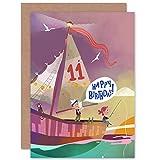 Pirate Map Boys 11th Birthday Card
