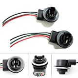 iJDMTOY 3156 3157 Wiring Harness Sockets For LED Bulbs, Turn Signal Lights, Brake Lights