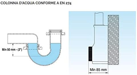 spazio2/Lira Lira Sif/ón fregaderos 2/V/ías PP ispez