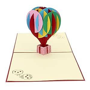 FiedFikt Tarjeta de felicitación 3D, tarjetas Pop,árbol de ...
