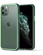 MKOAWA Shockproof Series iPhone 11 Pro Max Case, Clear Anti-Scratch Hard PC Backpanel with Soft Silicone Edges Protective Phone Case Cover for Apple iPhone 11 Pro Max 6.5 Inch (2019) - Midnight Green