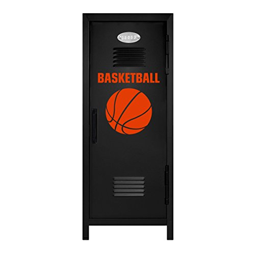 Black/Orange Basketball Player Mini Locker Gift (Mini Basketball Bank)