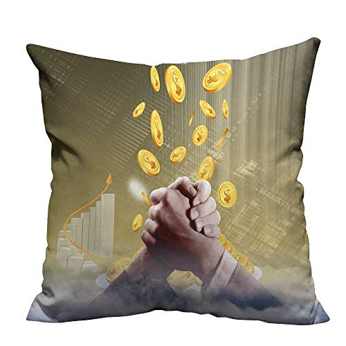 YouXianHome Decorative Throw Pillow Case Business Finance Cooperation Ideal Decoration(Double-Sided Printing) 27.5x27.5 ()