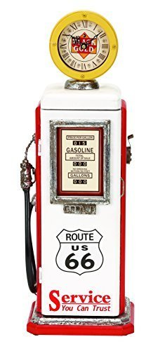 Deco 79 Wood Gas Pump Clock, 21 by 7-Inch by Deco Seventy-Nine by Deco 79 (Image #1)