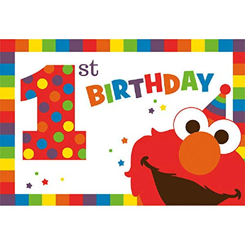 Elmo First Birthday Party Supplies (Invitation -