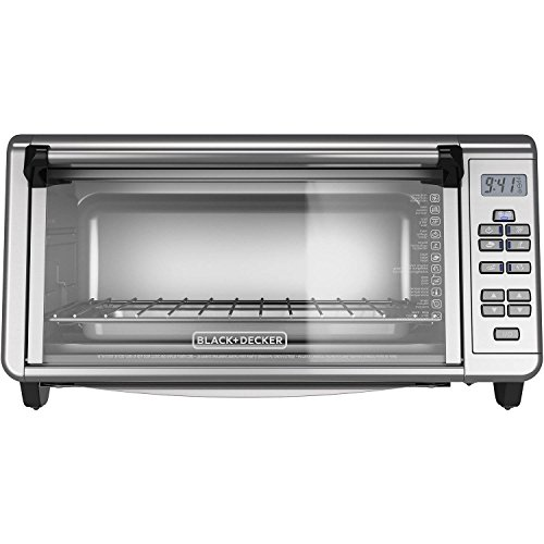 Black+Decker 3290XG TO3290XG Extra Wide Digital Toaster Convection Oven, Silver, 9X13, (Black And Decker Extra Wide Toaster Oven)