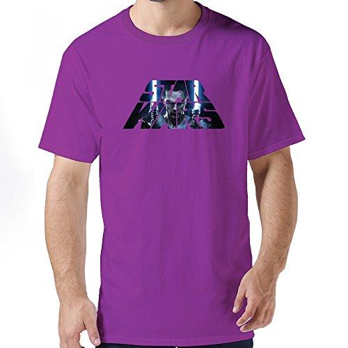 Sale Custome Man Star Wars The Force Awakens Logo T-shirts Size XS Purple (Robin Custome)