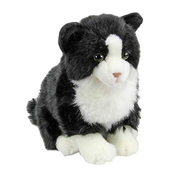 Amazon Com Faithful Friends Black And White Tabby Cat Stuffed