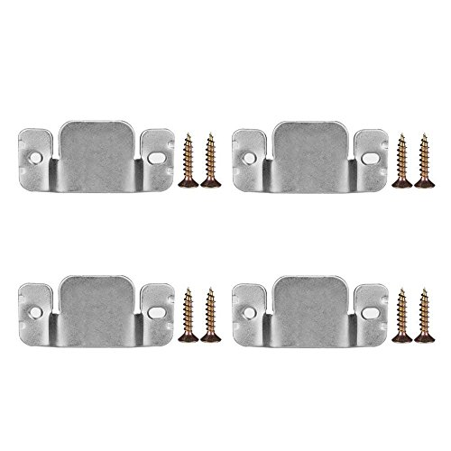 DYWISHKEY Metal Sectional Sofa Interlocking Furniture Connector with Screws, 4 Pieces